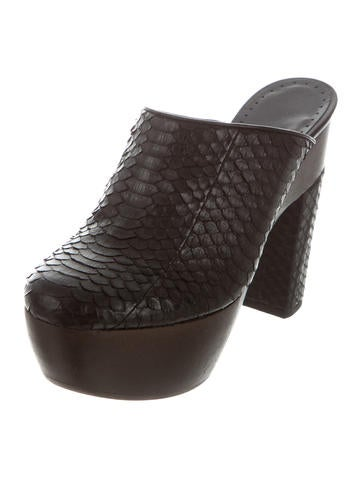 Alexa Wagner Aladin Python Clogs w/ Tags outlet sneakernews outlet view free shipping fashionable aFhJgQP8n