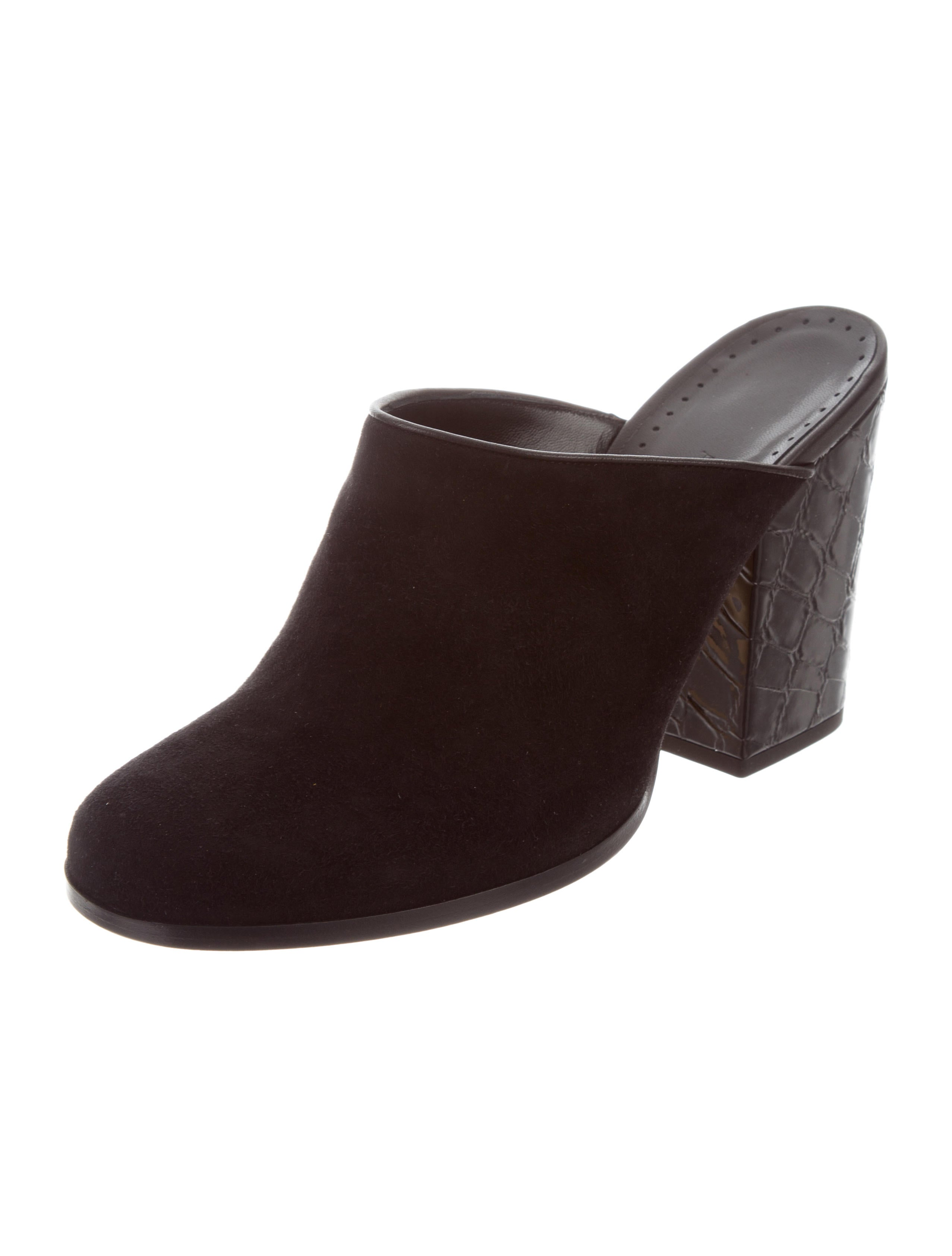 Alexa Wagner Suede Round-Toe Mules w/ Tags 2014 cheap sale P95Erk