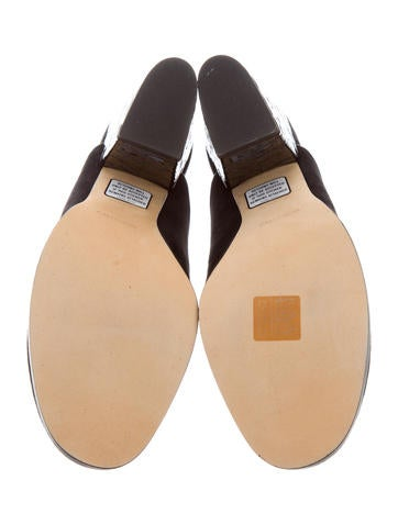 Alexa Wagner Suede Round-Toe Mules w/ Tags cheap sale footlocker lIC9WN3nu2