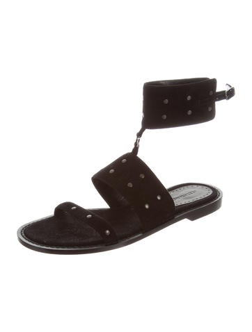 Alexa Wagner Embossed Leather-Trimmed Neoprene Sandals sale great deals 0hKBy