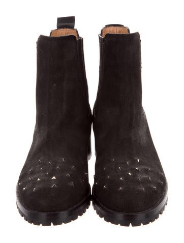 Alexa Wagner Nubuck Spike-Embellished Ankle Boots cheap high quality collections cheap online YlvHJEMq