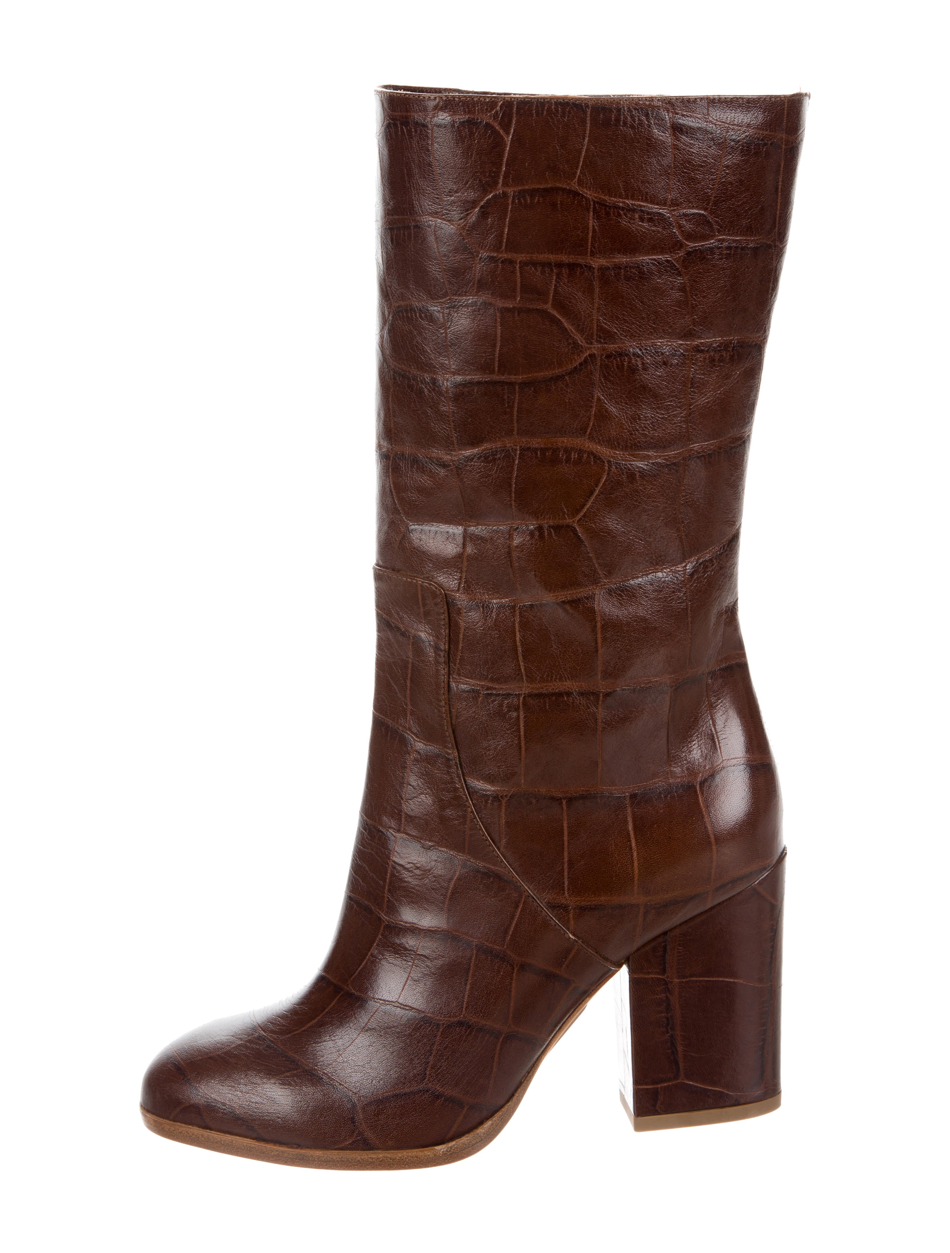 recommend cheap online Alexa Wagner Heidi Embossed Boots w/ Tags outlet cheap price view best prices for sale GoqM4
