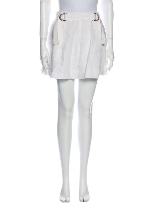 Aje Mini Shorts White