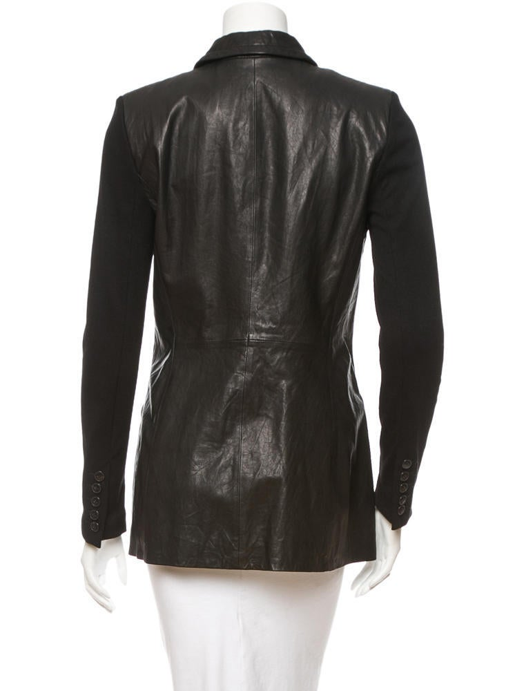 Yigal azrou l leather jacket clothing yig20904 the for Leather jacket and shirt