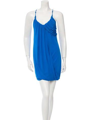 Yigal Azrouël Sleeveless Drape Dress
