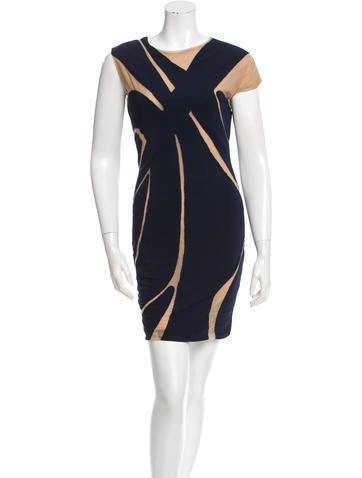 Yigal Azrouël Patterned Mini Dress