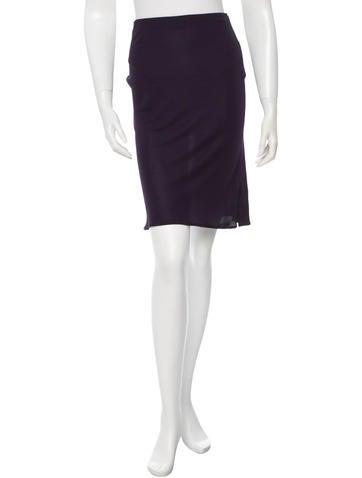 Yigal Azrouël Sheer Knee-Length Skirt