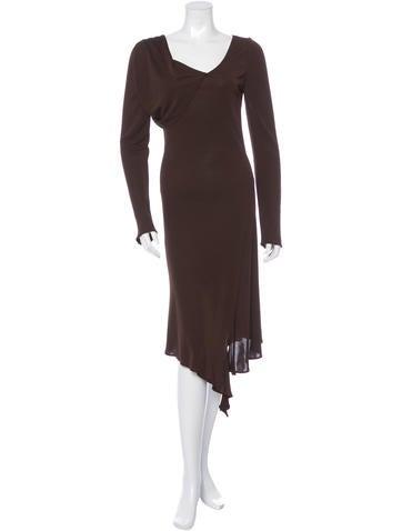 Yigal Azrouël Long Sleeve Midi Dress