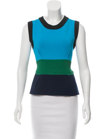 Yigal Azrouël Rib Knit Peplum Top None