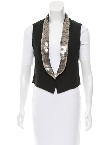 Embellished Wool Vest w/ Tags