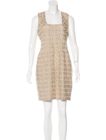 Yigal Azrouël Crochet Sheath Dress