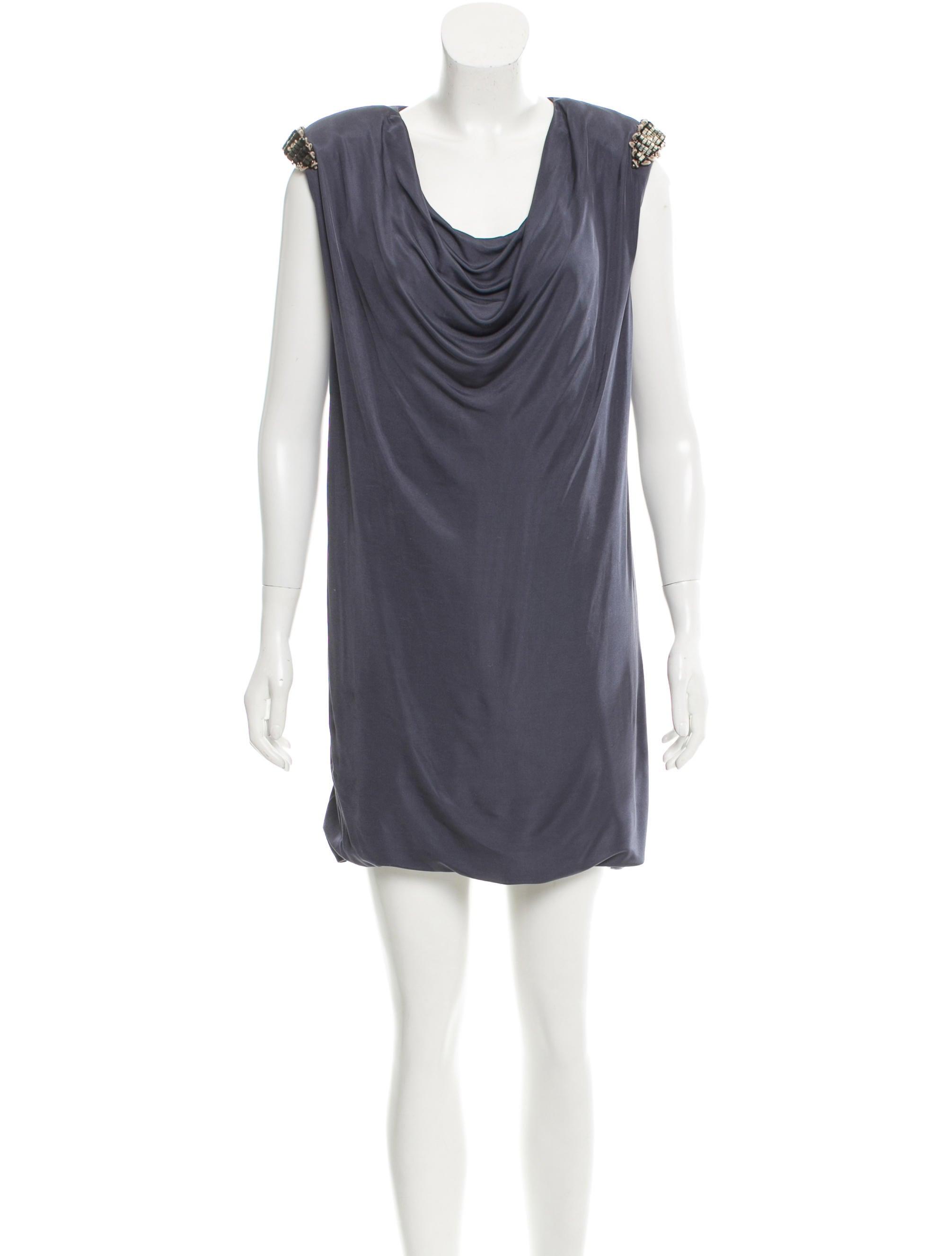 yigal azrou 235 l bead embellished sleeveless dress clothing