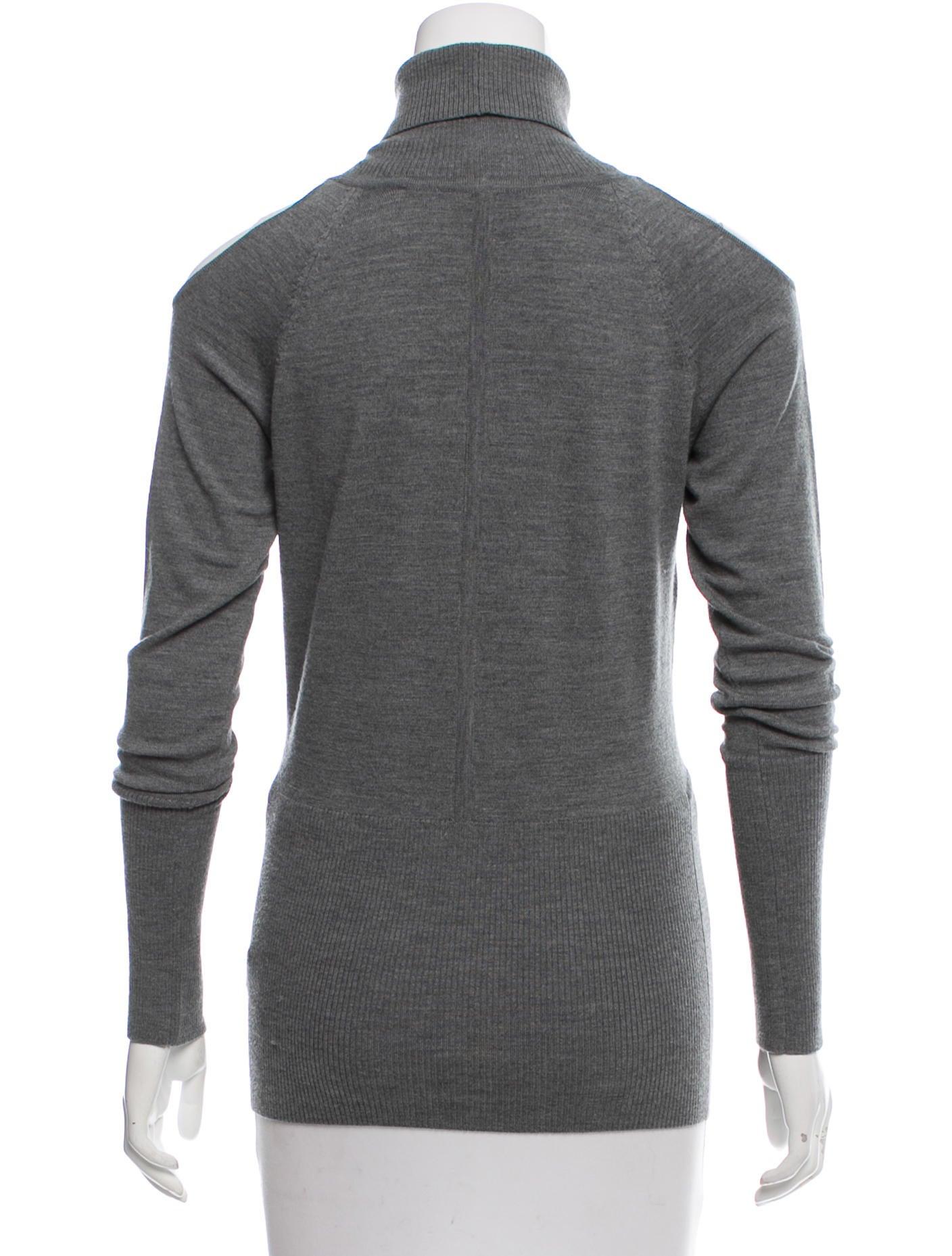 Yigal Azrouël Cold Shoulder Wool Sweater