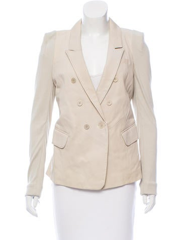 Yigal Azrouël Structured Leather Blazer w/ Tags None