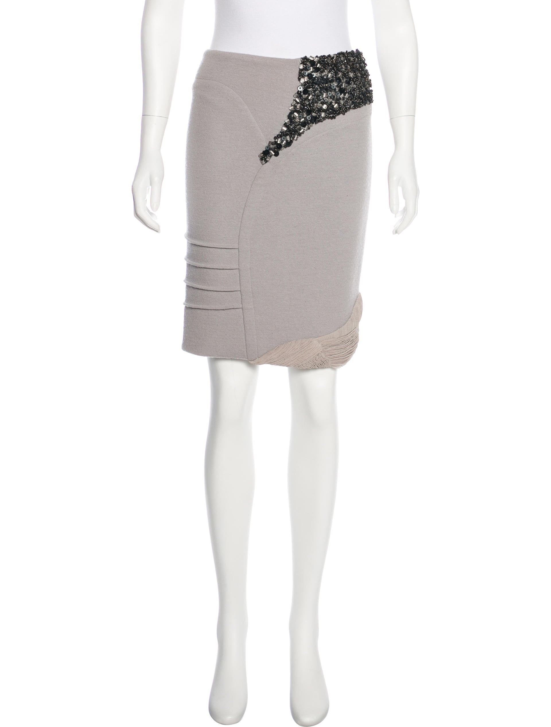 For Sale Free Shipping Perfect Online Yigal Azrouël Embellished Knee-Length Skirt w/ Tags L67Tyu2TfE