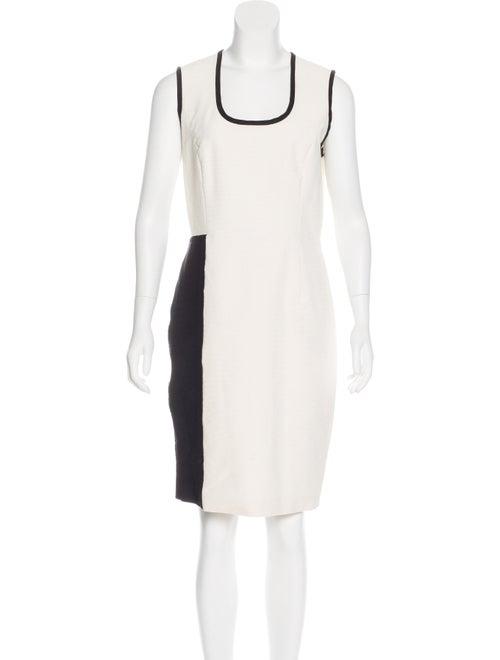 Yigal Azrouël Colorblock Sleeveless Dress White
