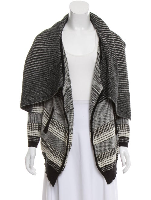 Yigal Azrouël Baby Alpaca Knit Cardigan Black