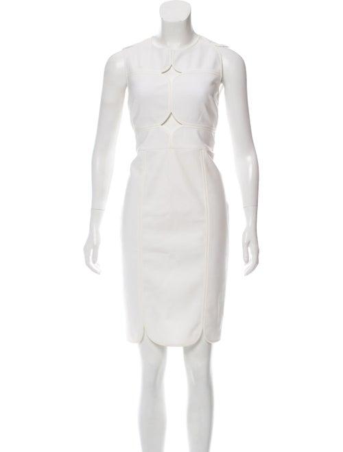 Yigal Azrouël Sleeveless Knee-Length Cutout Dress