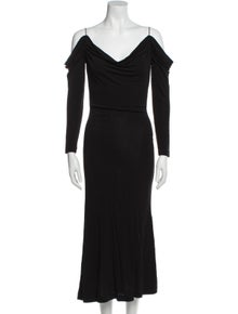 Yigal Azrouël Cowl Neck Long Dress