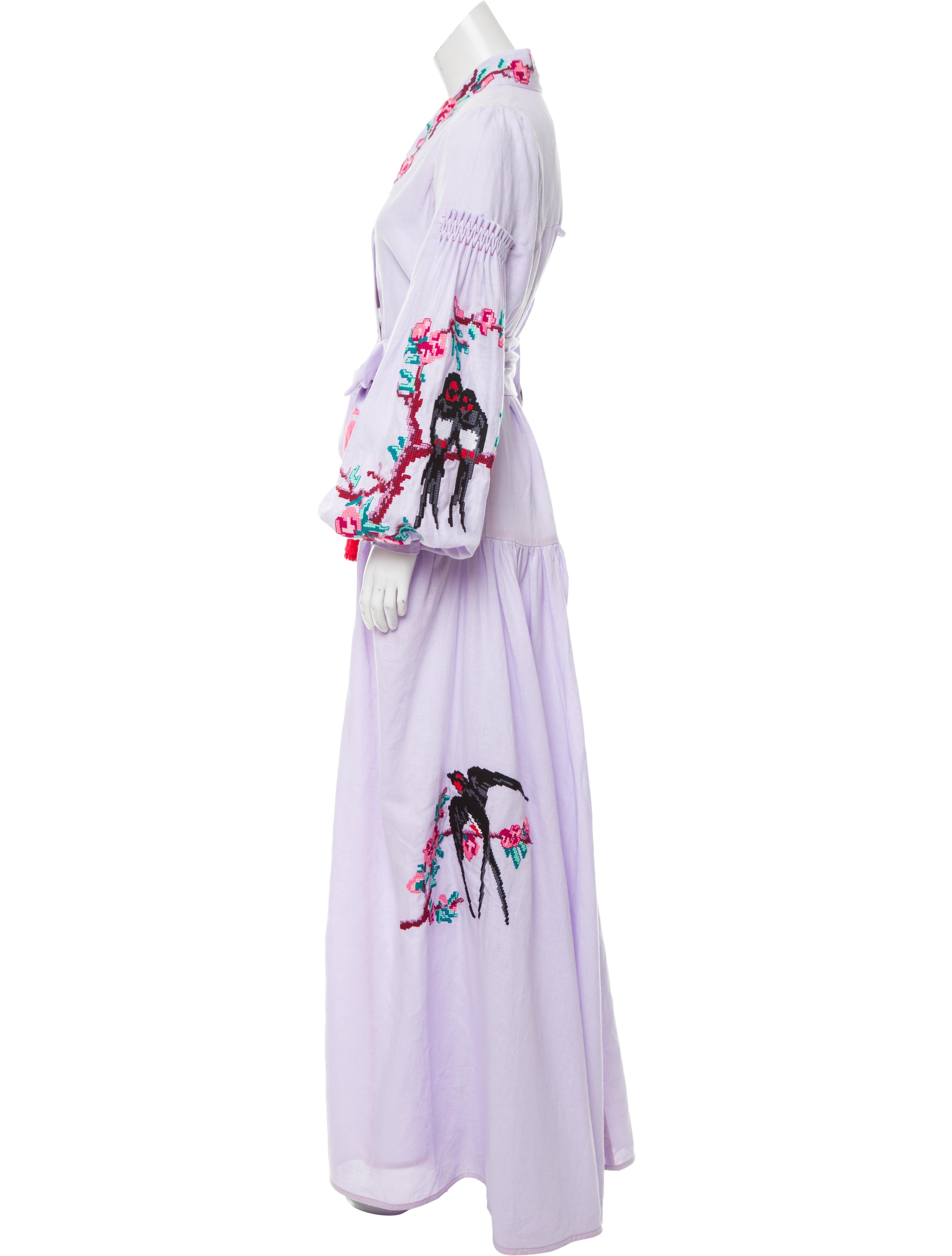 Yuliya magdych embroidered sakura love dress w tags