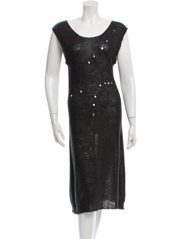 Yohji Yamamoto Distressed Knit Dress None