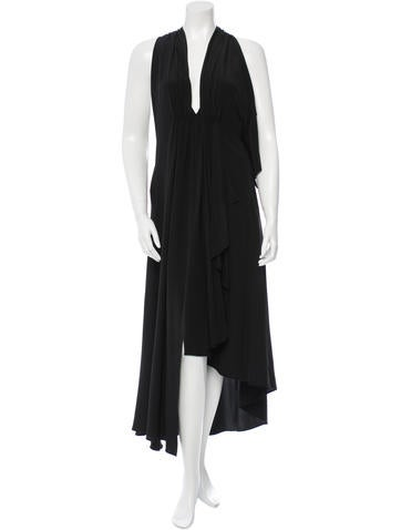 Yohji Yamamoto Silk High-Low Dress w/ Tags None