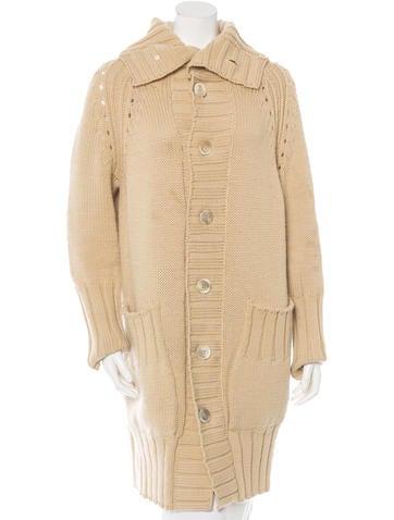 Yohji Yamamoto Wool Long-Line Cardigan None