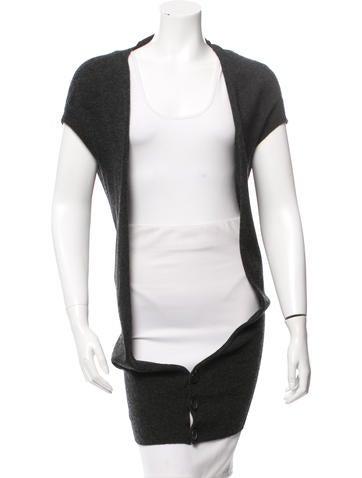 Yohji Yamamoto Wool Short Sleeve Cardigan w/ Tags None