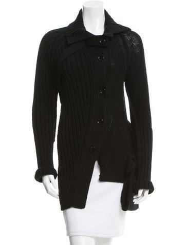 Yohji Yamamoto Asymmetrical Wool Cardigan w/ Tags None