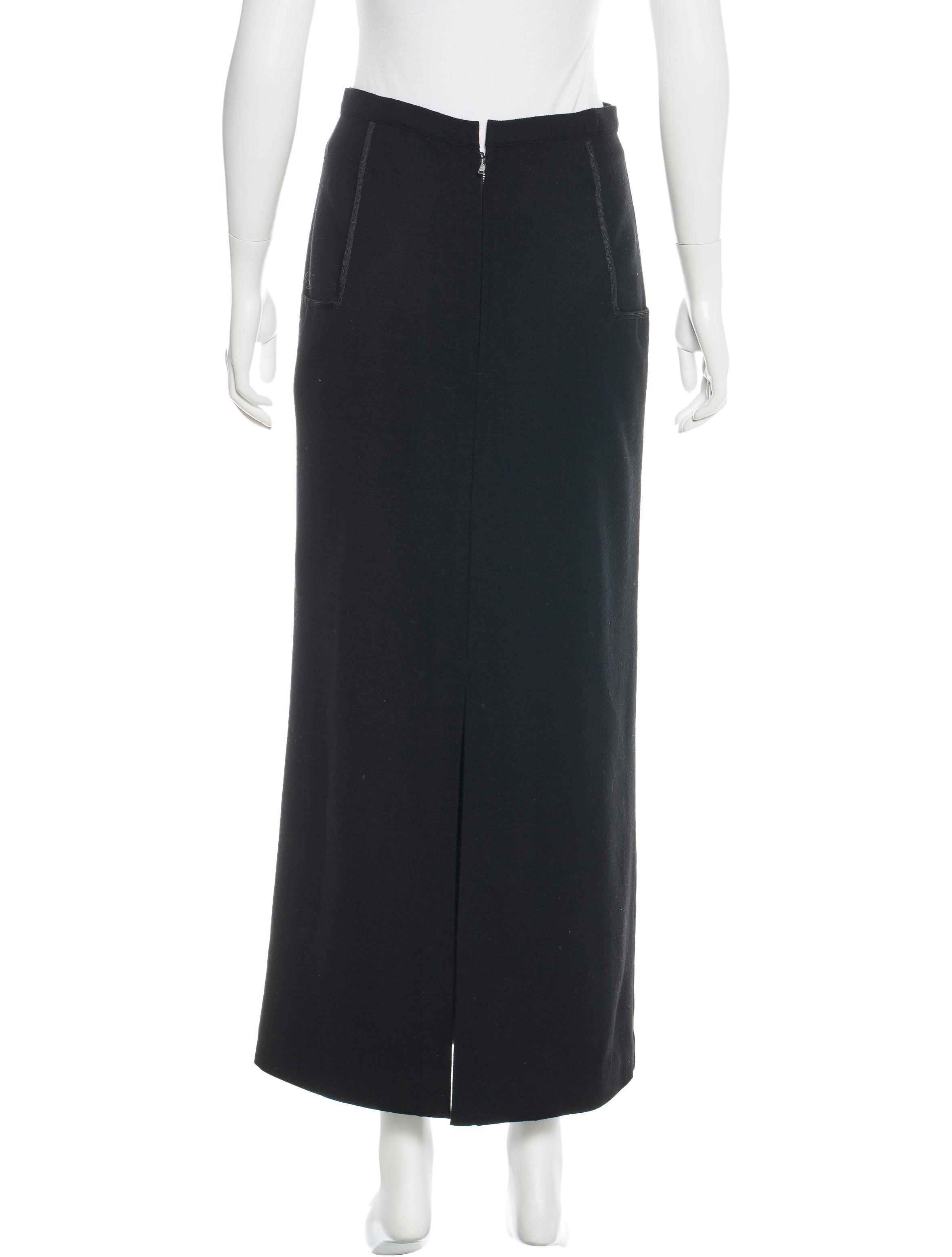 yohji yamamoto wool midi skirt clothing yoh21676 the