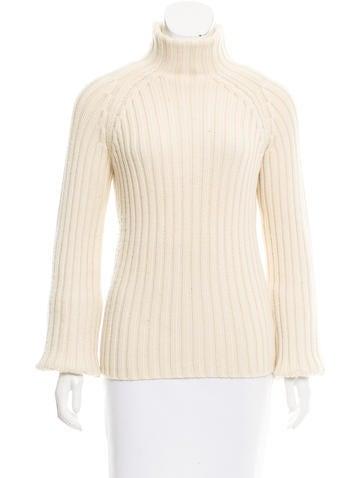 Yohji Yamamoto Wool Turtleneck Sweater None