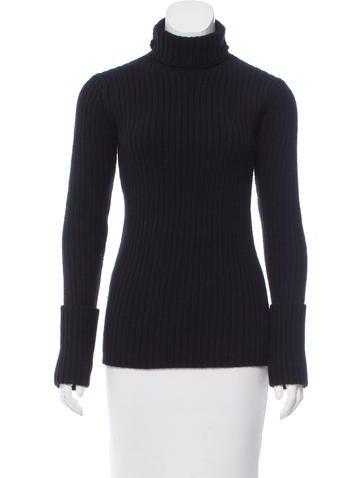 Yohji Yamamoto Rib Knit Wool Sweater None