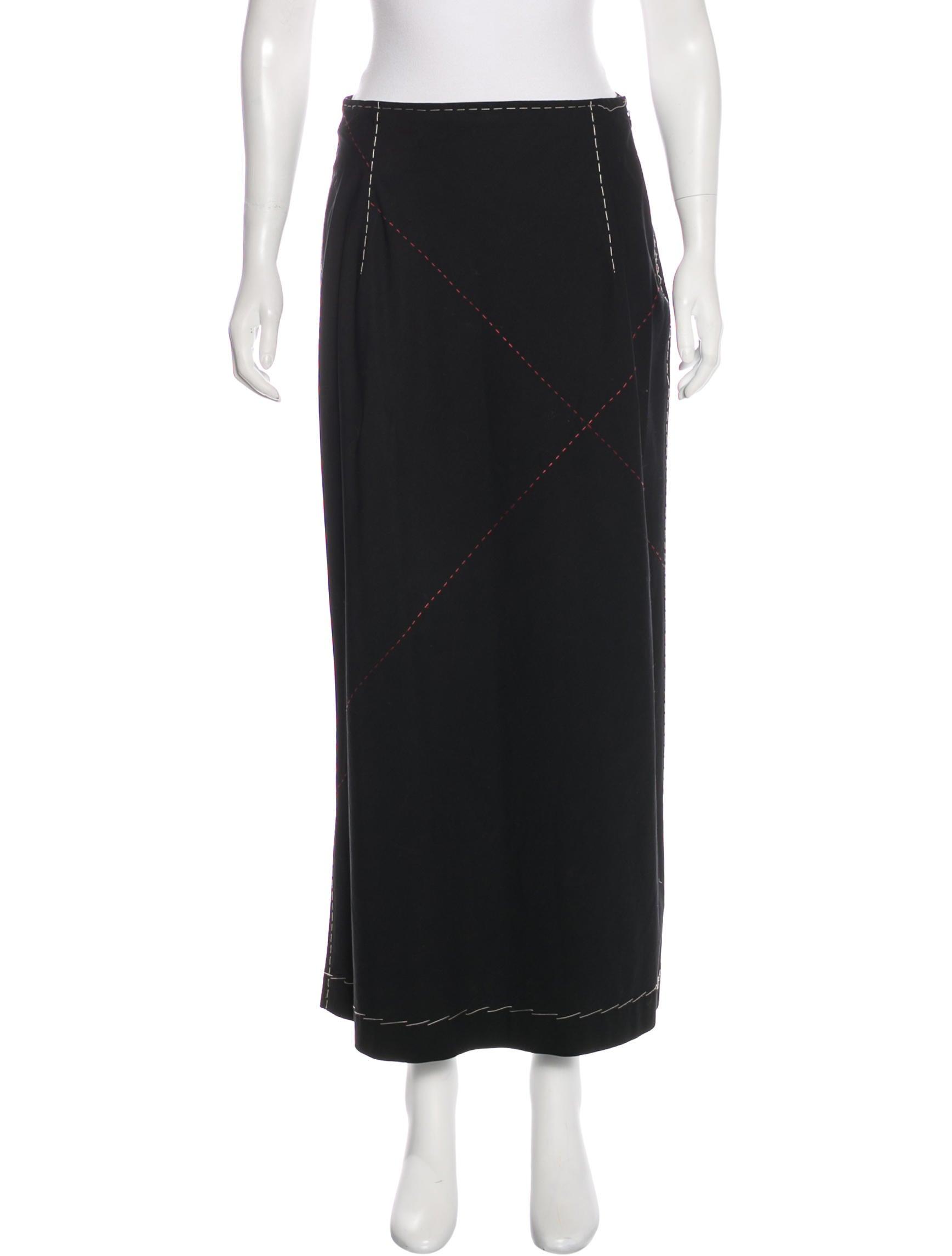 yohji yamamoto flared midi skirt clothing yoh22106