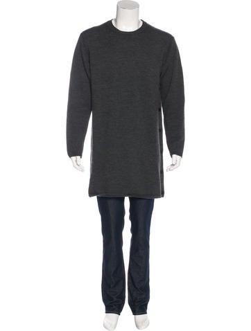 Yohji Yamamoto Wool Longline Sweater None