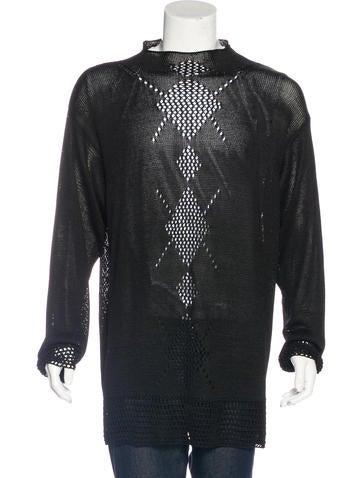 Yohji Yamamoto Mesh Knit Sweater None