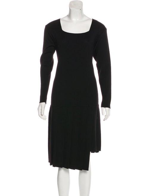 Yohji Yamamoto Knit Midi Dress Black