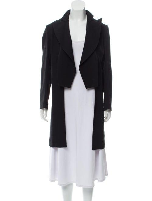 Yohji Yamamoto Lightweight Wool Coat Black