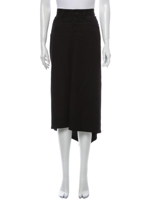 Yohji Yamamoto Midi Length Skirt Black