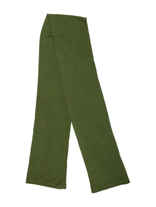 Yohji Yamamoto Wool Knit Scarf Green
