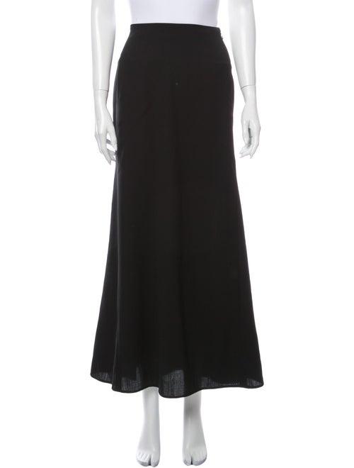 Yohji Yamamoto Wool Long Skirt Wool
