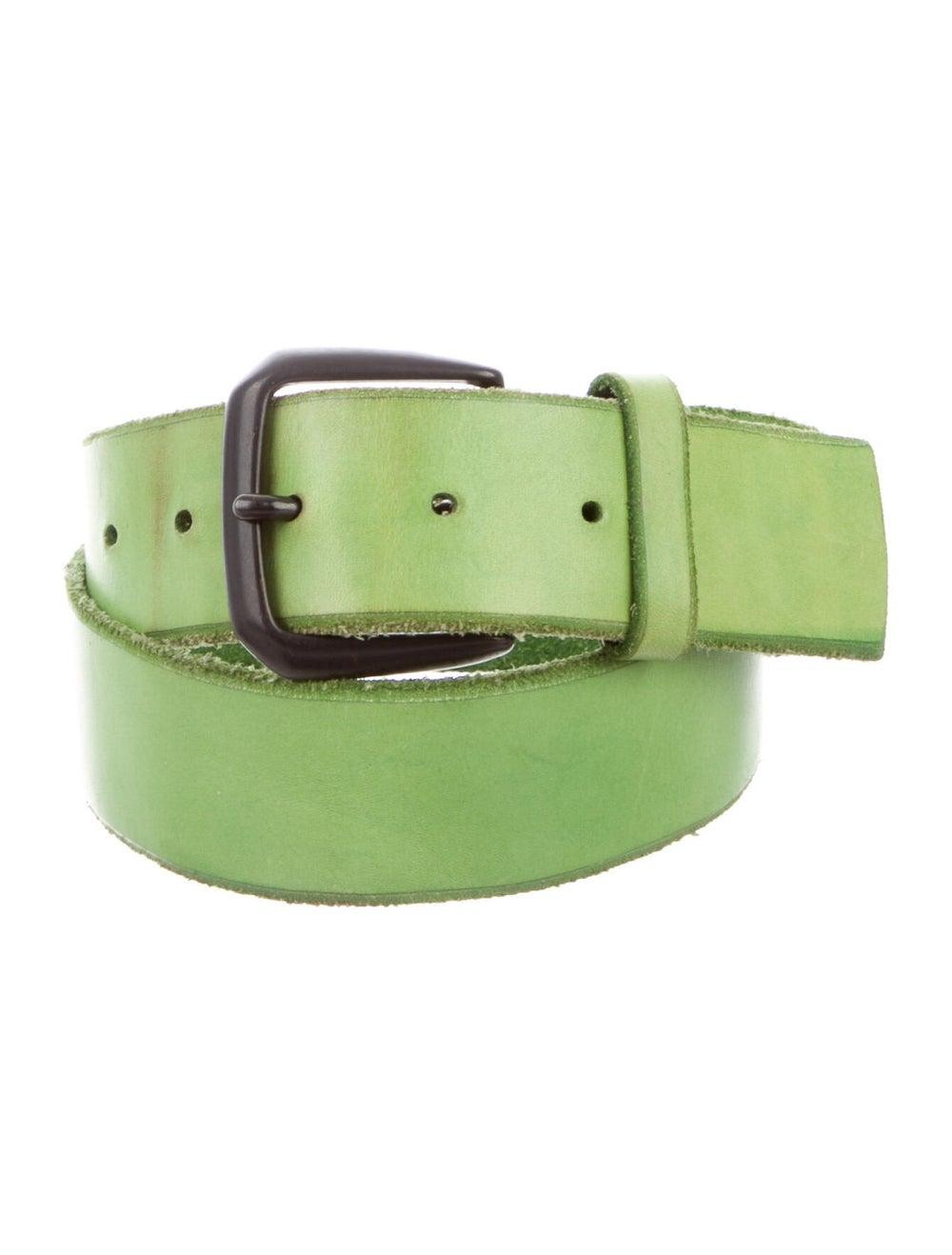 Yohji Yamamoto Leather Belt Green - image 1