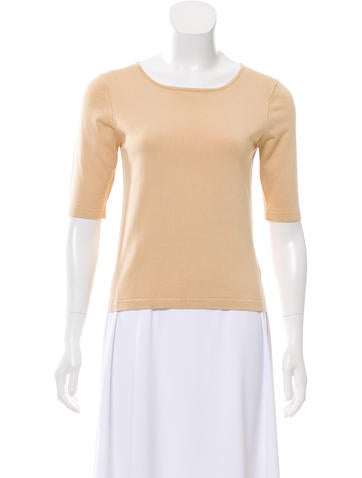 Yansi Fugel Silk-Blend Knit Top w/ Tags None