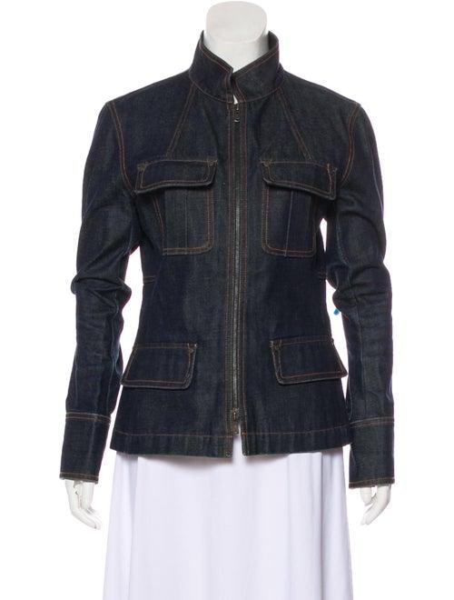 f926f07b93 Denim Stand Collar Jacket