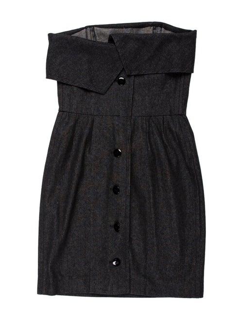 Yves Saint Laurent Rive Gauche Strapless Mini Dres