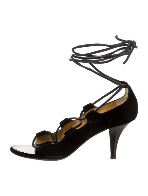 Yves Saint Laurent Rive Gauche Sandals Black