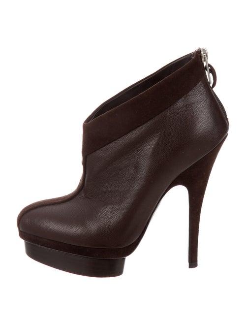 Yves Saint Laurent Rive Gauche Leather Boots Brown