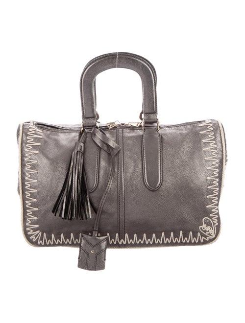 Yves Saint Laurent Rive Gauche Metallic Leather Ha