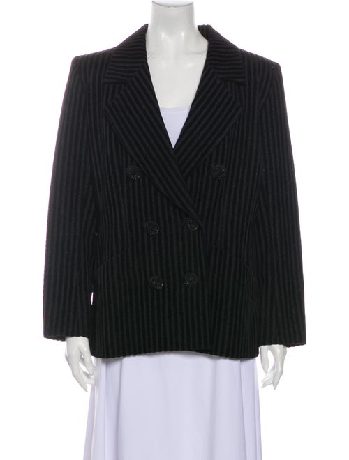 Yves Saint Laurent Rive Gauche Striped Blazer Blac