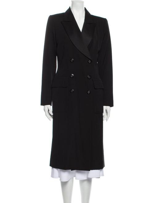 Yves Saint Laurent Rive Gauche Wool Peacoat Wool