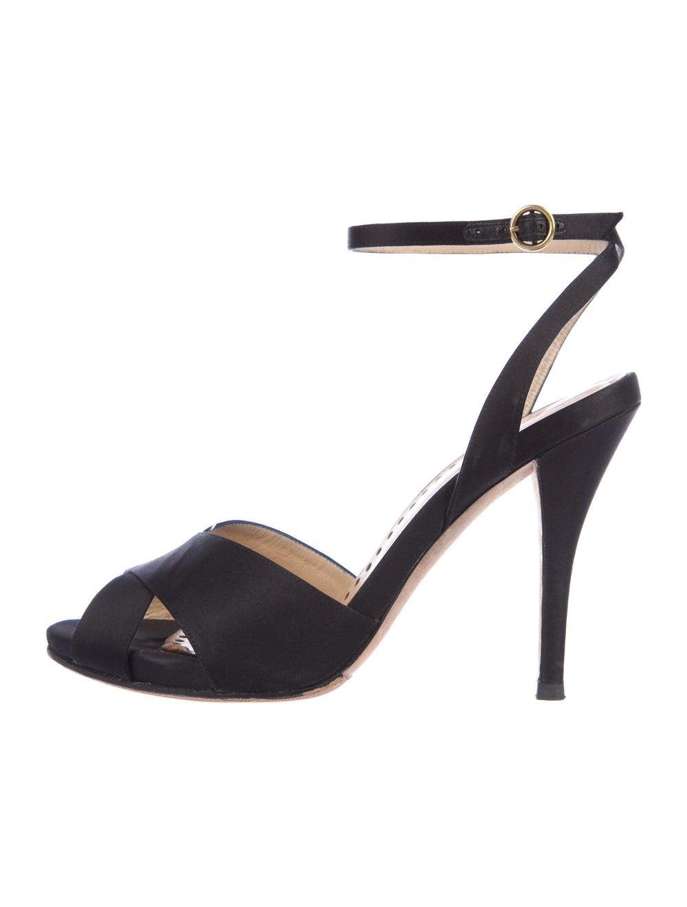 Yves Saint Laurent Rive Gauche Sandals Black - image 1